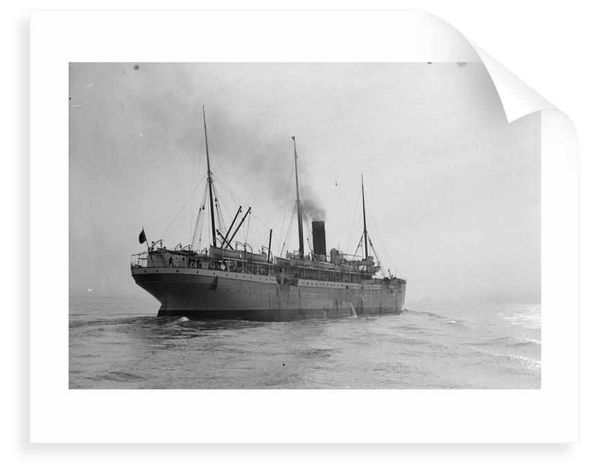 Passenger/cargo liner 'Gascon' (Br, 1897), Union-Castle Mail S.S. Co Ltd, under way by unknown