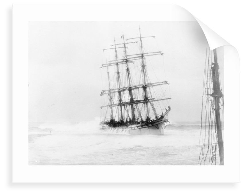 4-masted barque 'Adolphe' (Fr, 1902) ashore on Oyster Bank, Newcastle, Australia by unknown