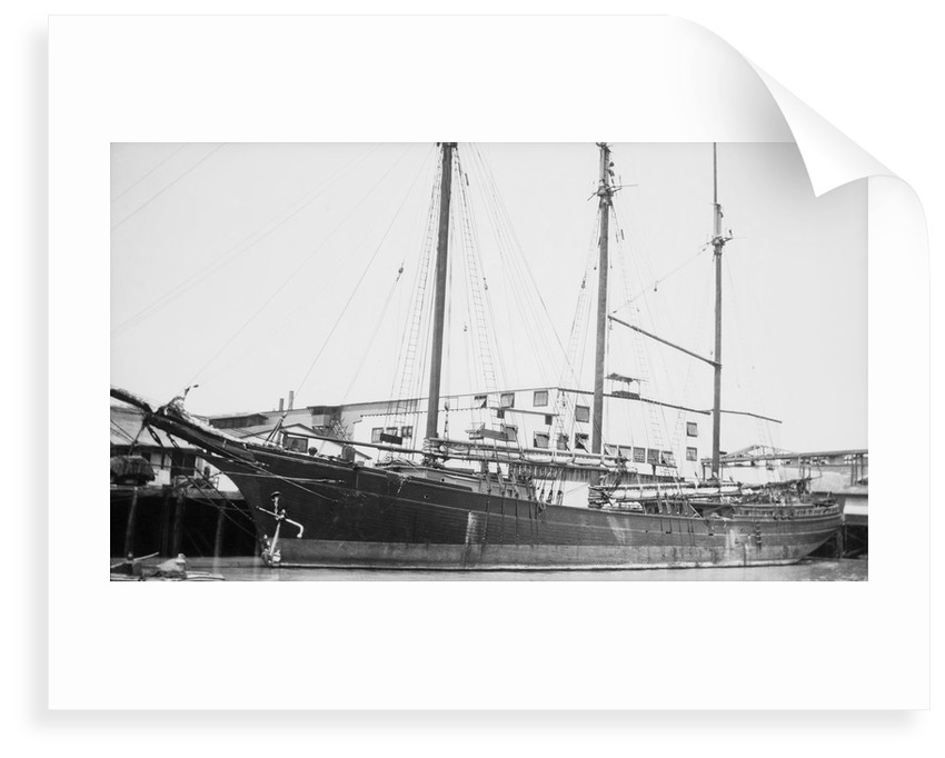 'Metha Nelson' (Am, 1896) at quayside by unknown
