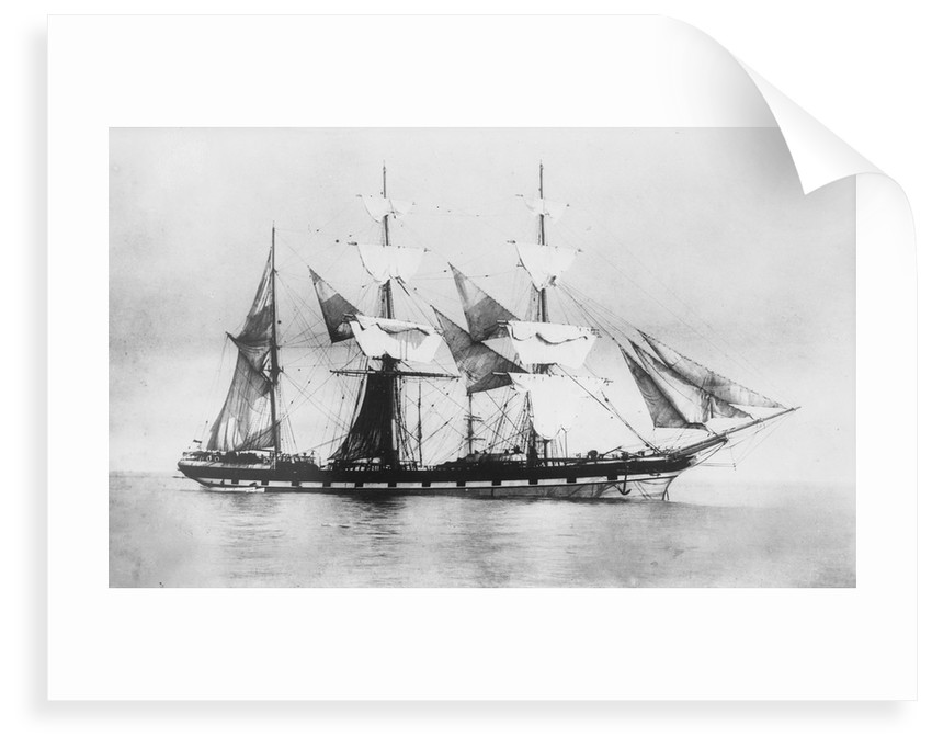 'Parsee' (Br, 1868) at anchor, drying sails by unknown