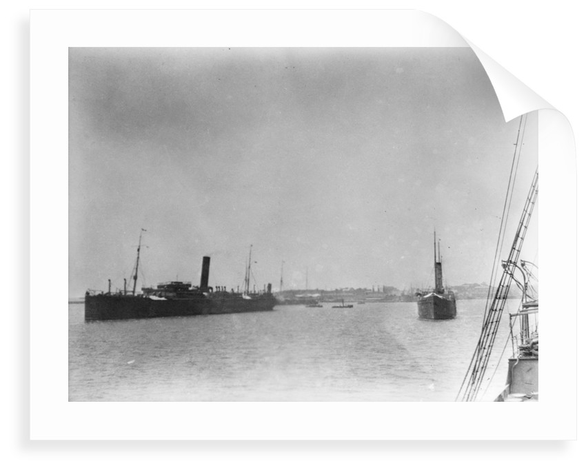 Cargo liner 'Hermione' (Br, 1891), ex 'Yarrawonga' at Dakar by unknown