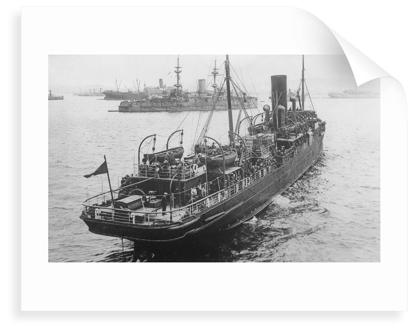 HMS 'Redbreast' (1908) under way in a crowded anchorage in the Eastern Mediterranean by unknown