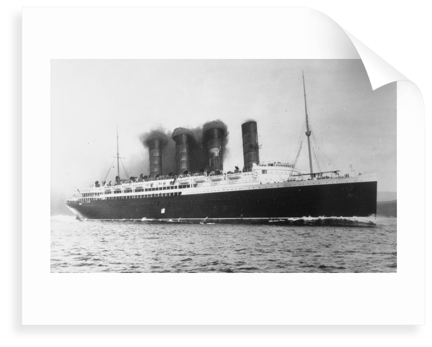 RMS 'Lusitania' (1906) under way by unknown