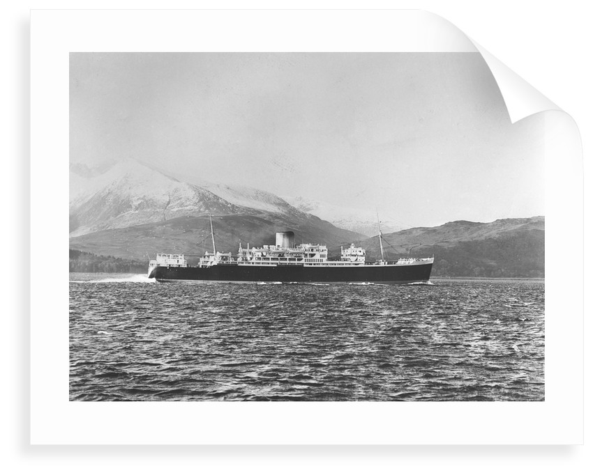Passenger/cargo liner 'Magdalena' (Br, 1949), Royal Mail Lines Ltd, under way by unknown