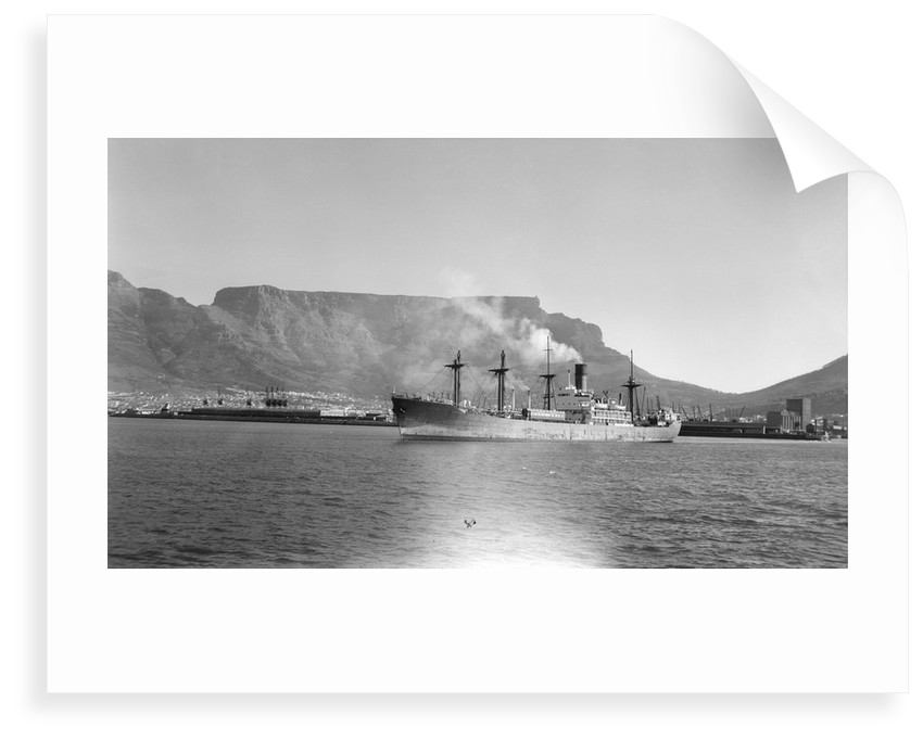 Good hope castle br 1945 in cape town harbour by