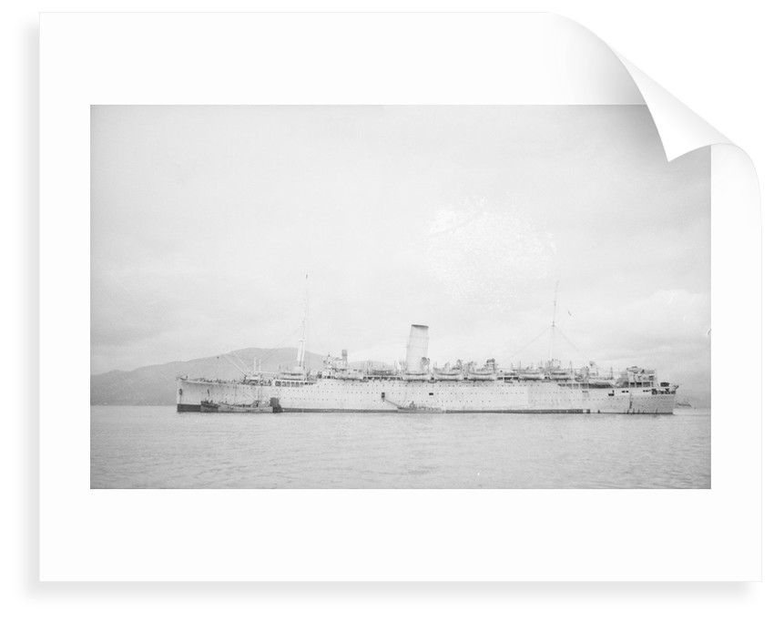 Photograph of the 'Cameronia' (1920) at anchor in 1939-1945 by unknown