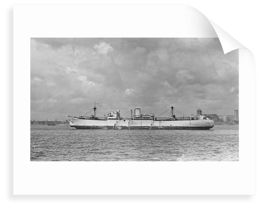 The 'Catrine' (Br, 1940) anchored in the River Mersey by unknown