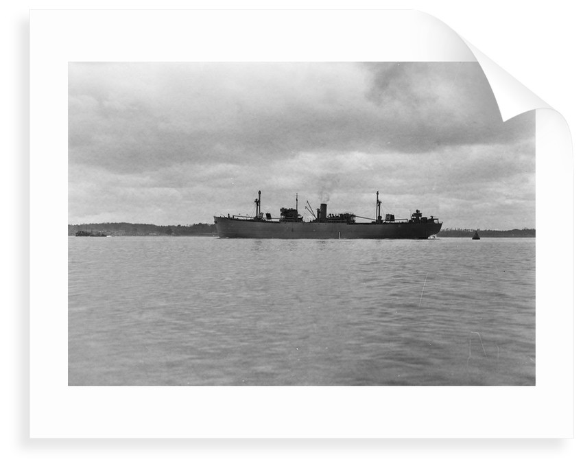 Photograph of 'Fort Yale' (1942) under way in Southampton Water on 11th March 1943. A port near beam view from just aft of broadside. This vessel was lost 23 August 1944. by unknown