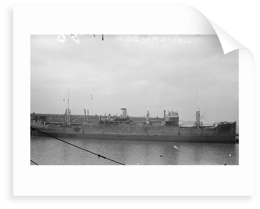 A starboard broadside view of 'Lowlander' (1925) at quayside by unknown