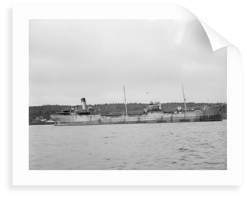 'Shirvan' (Br, 1925) tanker, Baltic Trading Co Ltd, at anchor in Halifax, Nova Scotia by unknown