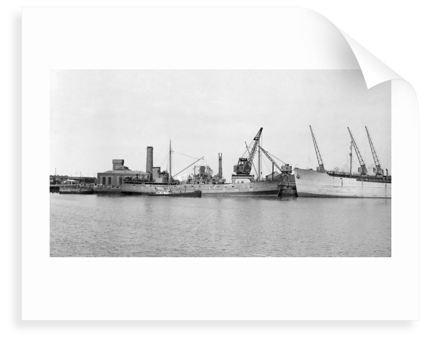General cargo, short sea, motor vessel 'Underwood' (1941) at quayside in Avonmouth by unknown