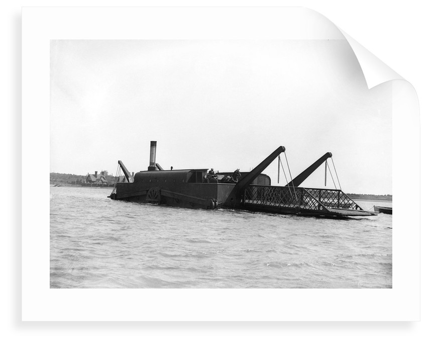 The steam chain ferry 'The Lady Beatrice' (1894) crossing the River Deben from Felixstowe to Bawdsey by Smiths Suitall Ltd.