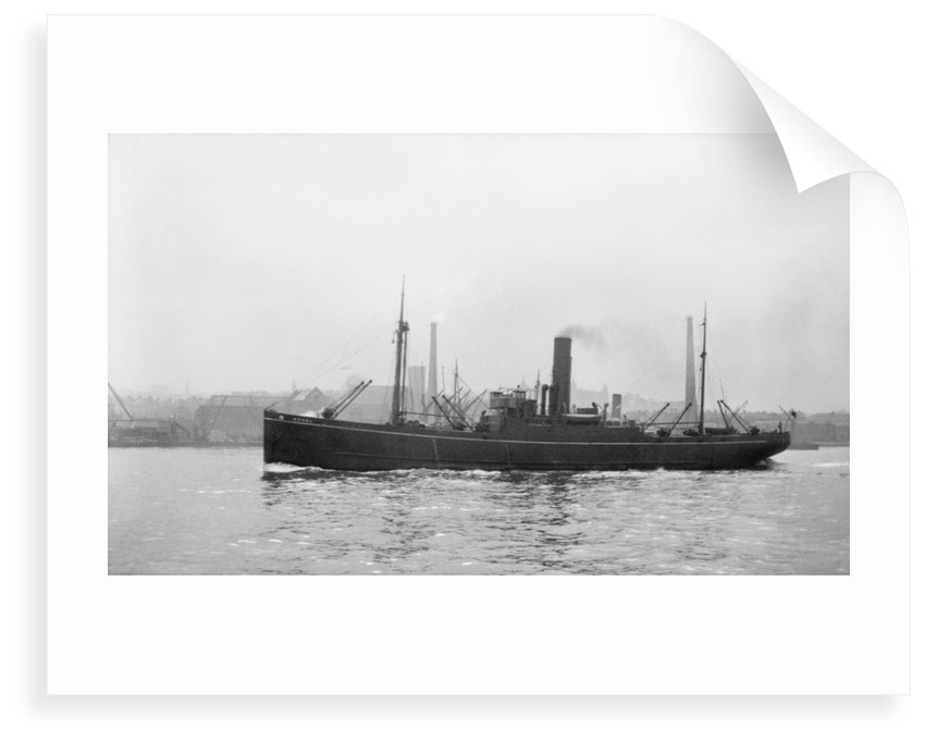 Photograph of the vessel 'Merel' (1925) under way on the River Thames passing Woolwich, 23rd March 1932 by unknown