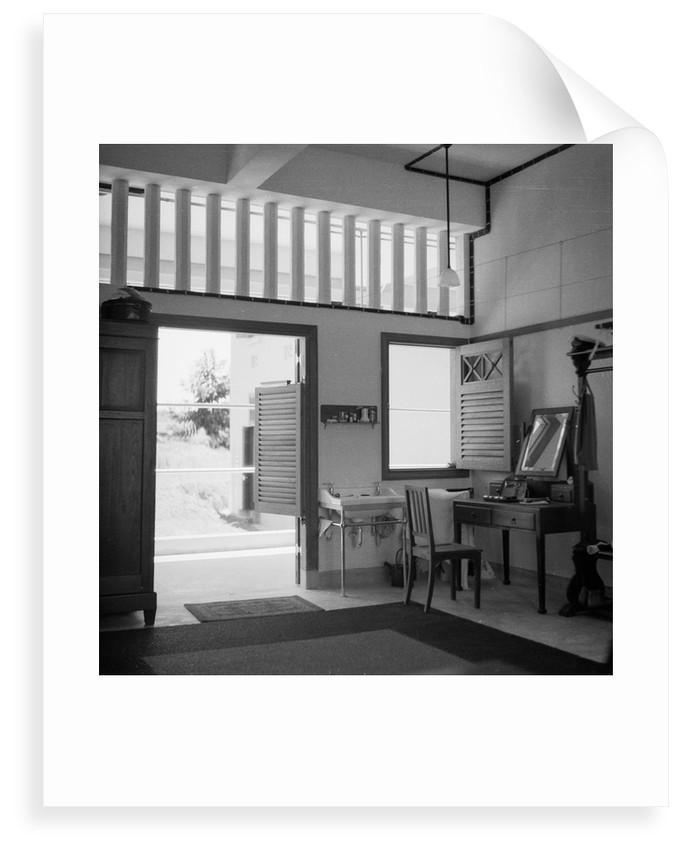 Lieutenant D.W. Waters' cabin (No. 13) in the Royal Air Force Station at Seletar, Singapore by David Watkin Waters