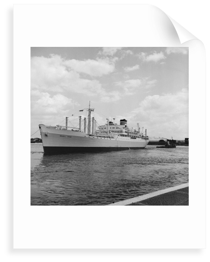 The 'Brasil Star' (1947) in the Royal Albert Basin by Grierson