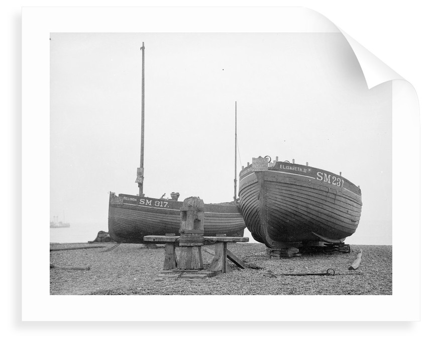 'Elisabeth II' laid up for sale on Brighton beach by unknown