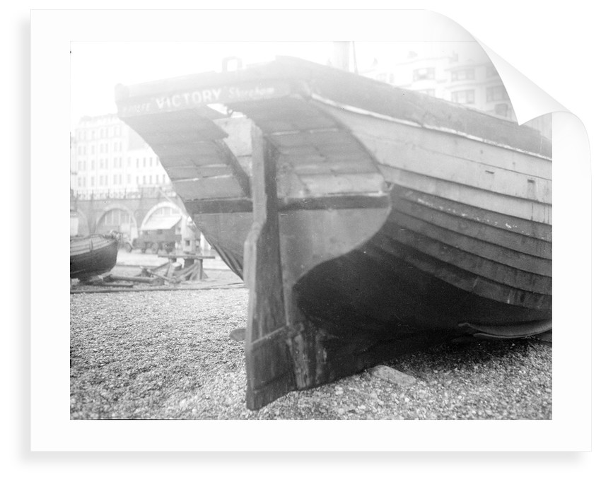 The 'Victory' laid up on Brighton beach by unknown
