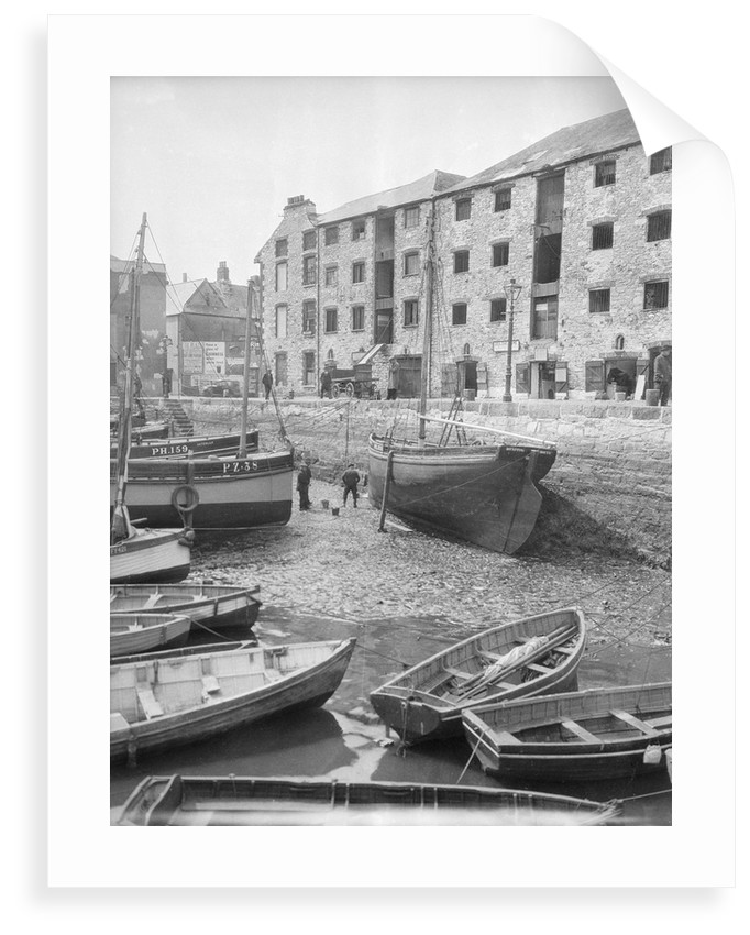 Dayspring' Plymouth hooker, dried out at quayside, Plymouth by unknown