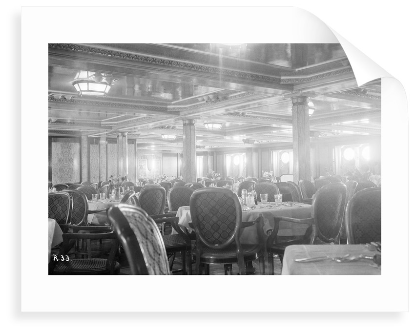 First-class dining salon aboard the 'Viceroy of India' by Marine Photo Service