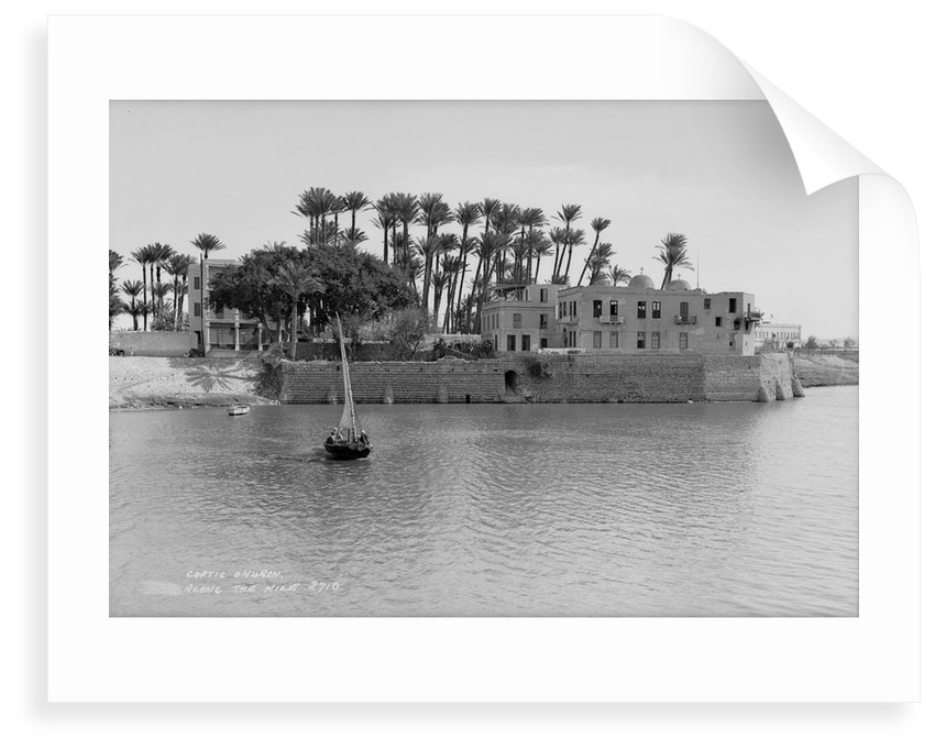 Coptic Church alongside the Nile at Cairo, Egypt by Marine Photo Service