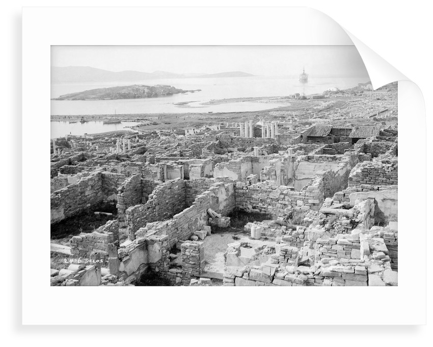 The ruins of the Temple of Apollo at Delos, Greece by Marine Photo Service