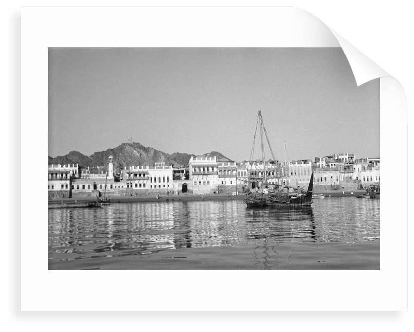 Mutrah waterfront by Alan Villiers