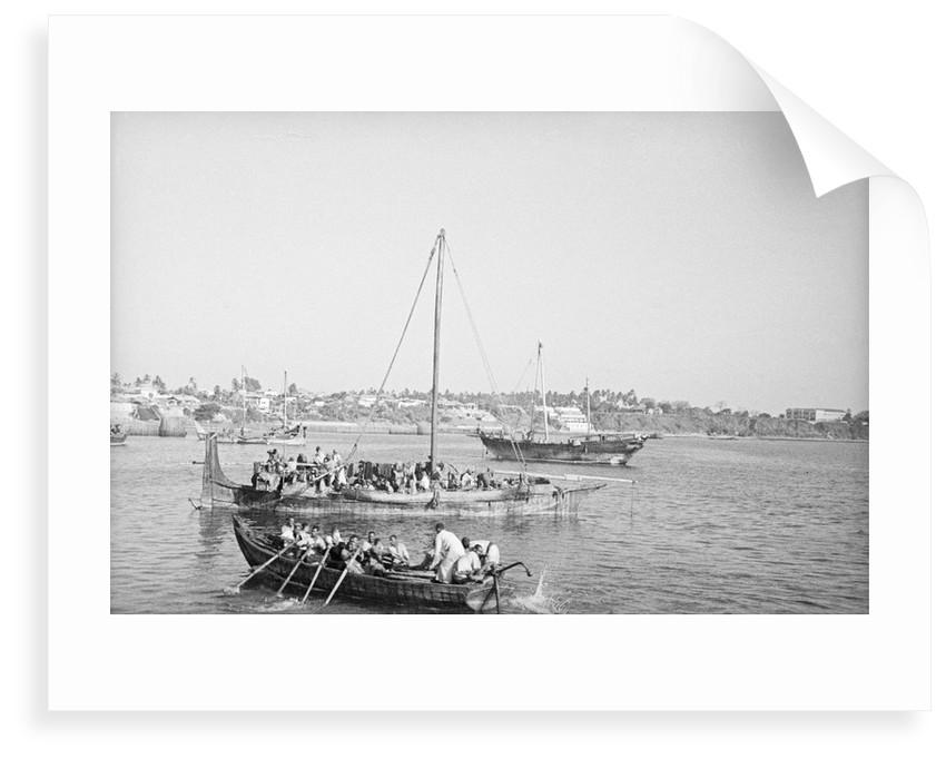 Typical Omani badan in Mombasa by Alan Villiers