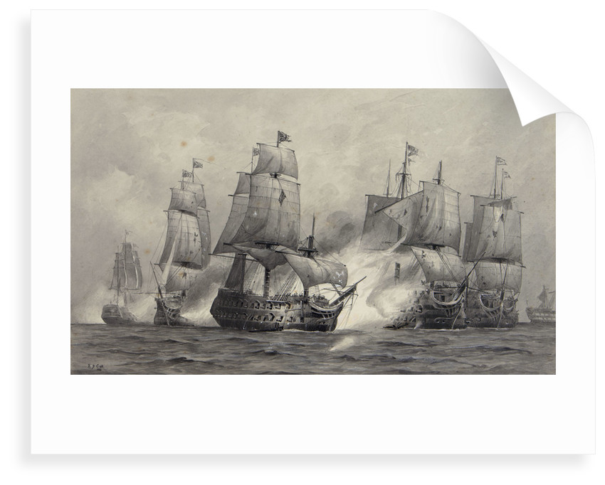 Battle of Cape St Vincent, 1797 by Alma Claude Burlton Cull