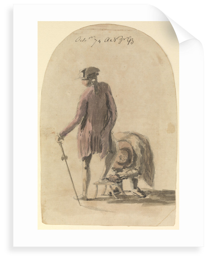 Man having his shoes polished by Gabriel Bray