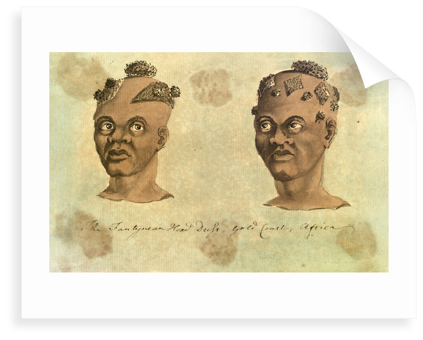 'The Fantyman Head Dress, Gold Coast, Africa' [Bray album] by Gabriel Bray