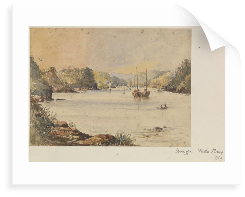 'Uraga, Yedo Bay' [Tokyo Bay, Japan] by James Henry Butt
