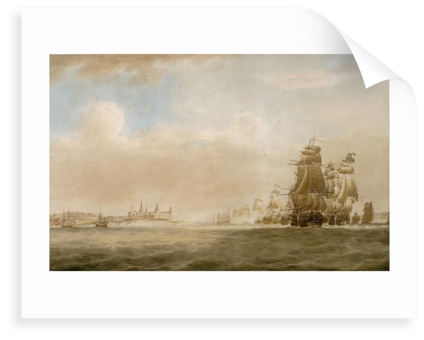 The British fleet off Kronborg Castle, Elsinore, 28 March 1801 [before the Battle of Copenhagen] by Nicholas Pocock