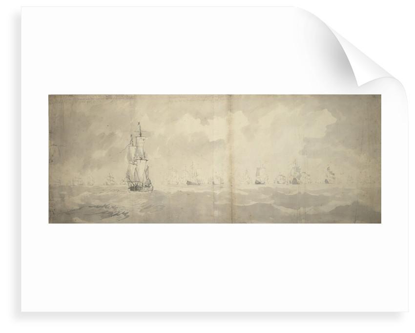 The Dutch fleet returning from Bergen, 3 September 1665 by Willem van de Velde the Elder
