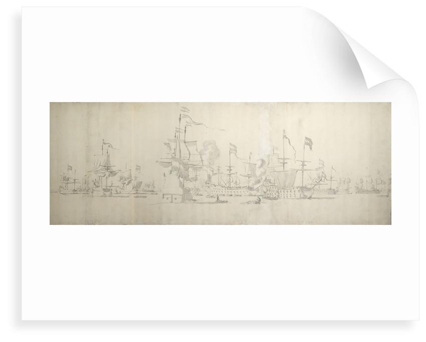 Dutch fleet off The Coast of Holland, November 1664 by Willem van de Velde the Elder