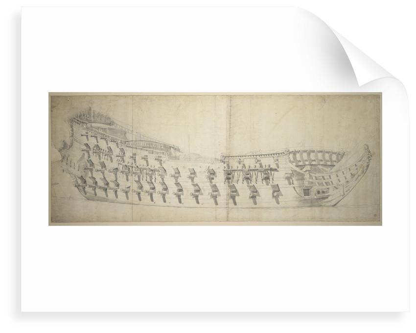 The 'Dolfijn' by Willem van de Velde the Elder