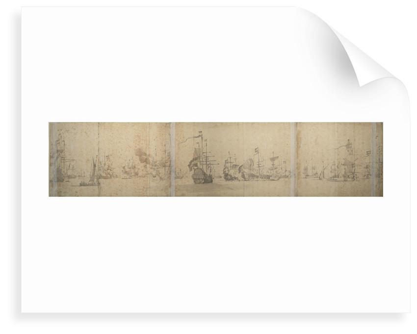 The Dutch fleet off the coast of Holland November 1664 by Willem van de Velde the Elder