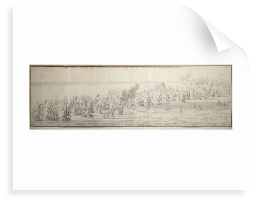 The Battle of the Texel (Kijkduin), 21 August 1673; second part by Willem van de Velde the Elder