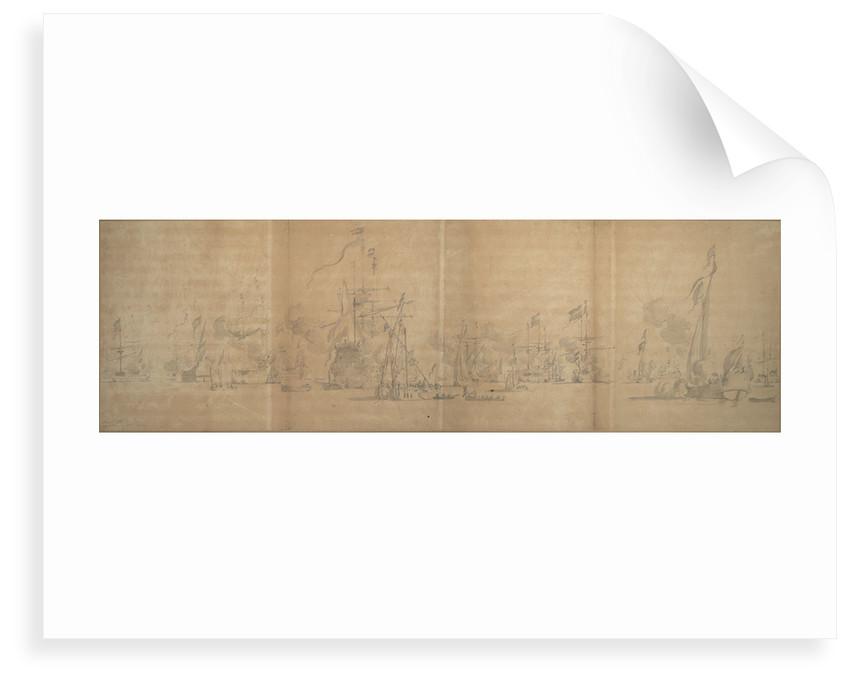 Visit of the Admiralty deputies to the Dutch fleet, October - November 1664 by Willem van de Velde the Elder