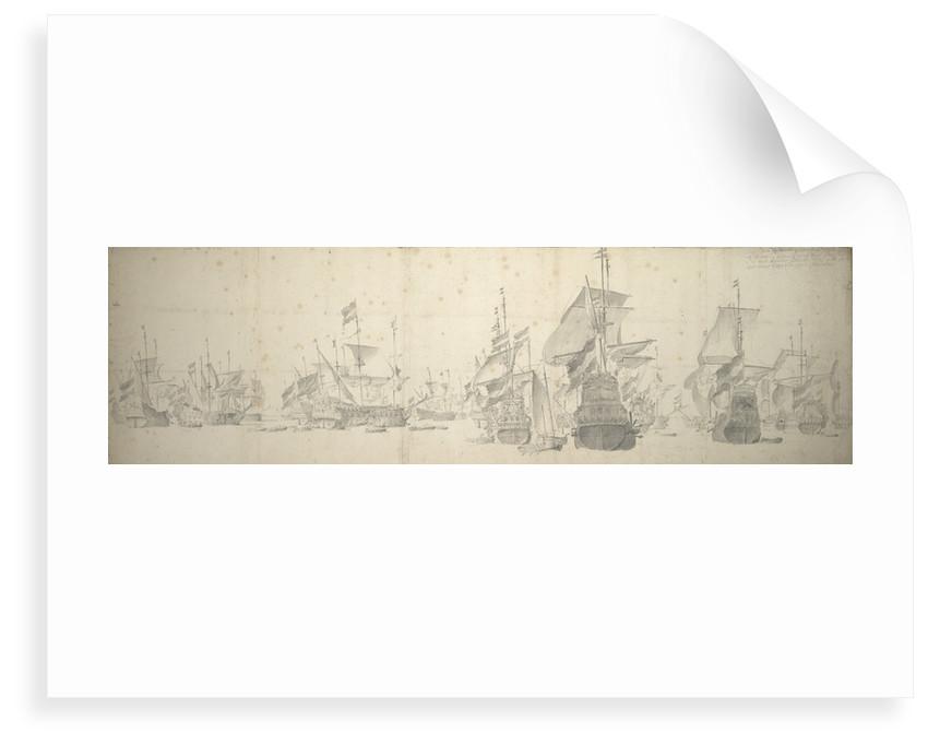 A council-of-war in the Dutch fleet off Terschelling, 7-17 October 1658 by Willem van de Velde the Elder