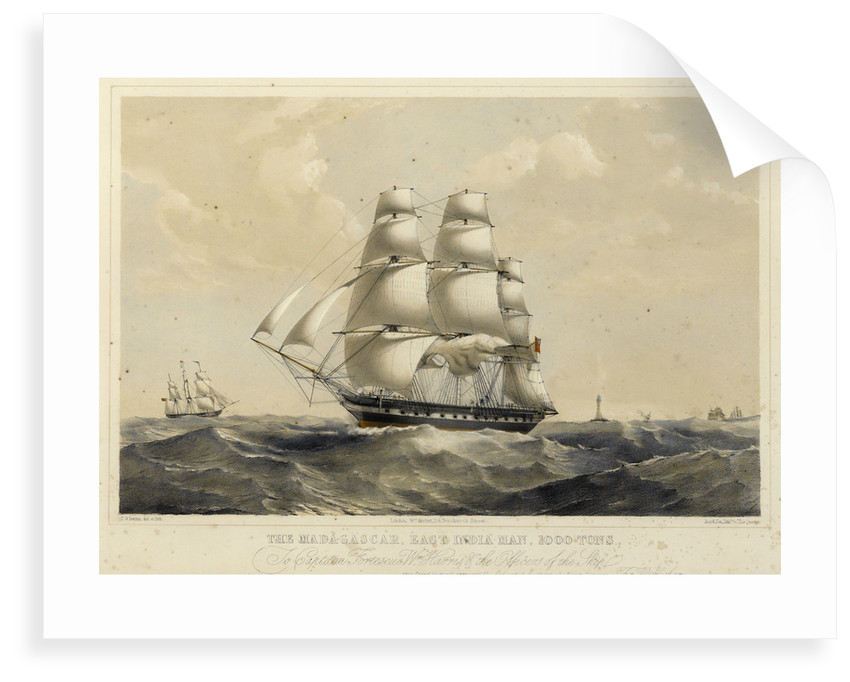 The East Indiaman 'Madagascar' by Thomas Goldsworth Dutton
