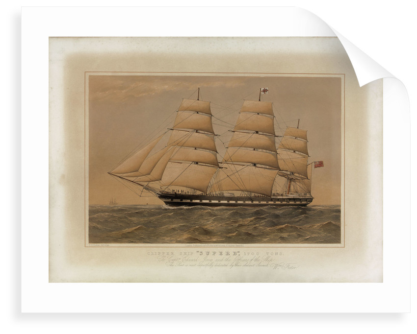 Clipper ship 'Superb' by Thomas Goldsworth Dutton