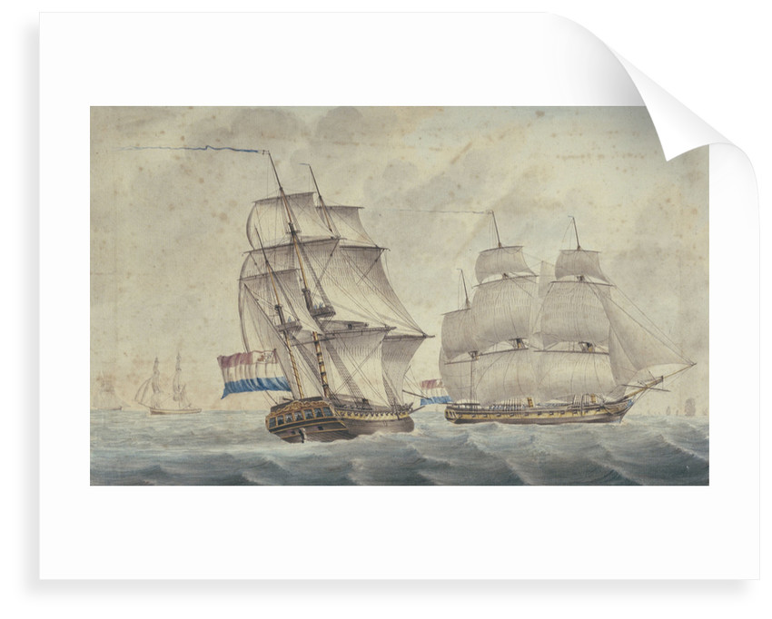 Two Dutch frigates by unknown