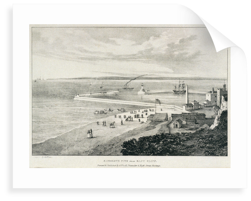 Ramsgate pier from East Cliff by George Rowe