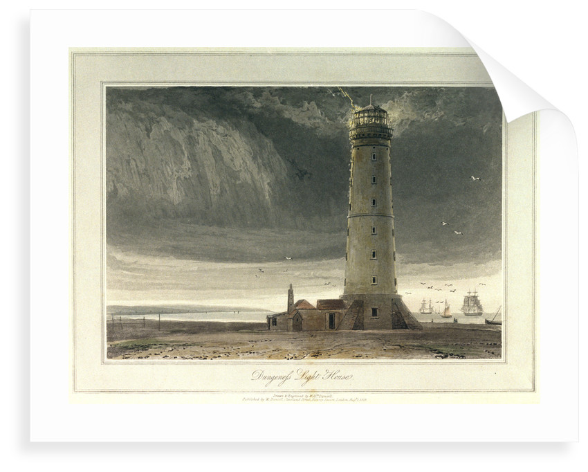 Dungeness light house by William Daniell