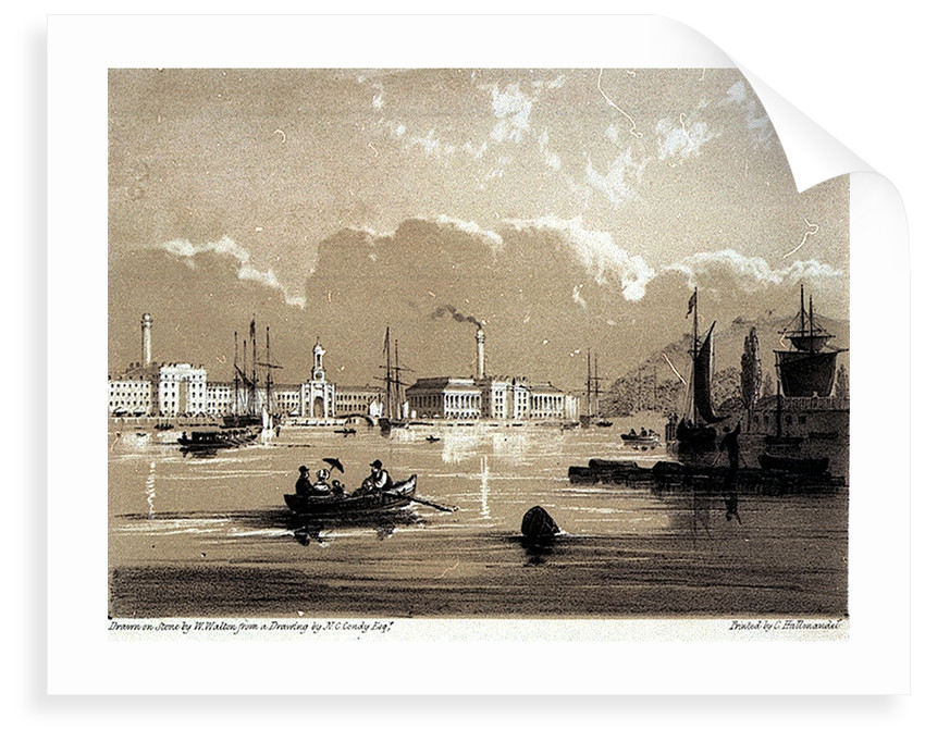 The Victualling Office From Richmond Walk, Devonport. Views from the most picturesque parts of Mount Edgcumbe No.1 by Nicolas Matthew Condy