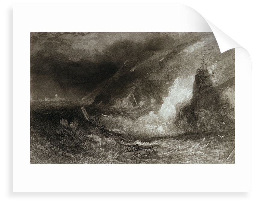 Long-ship's light houses. Lands End by Joseph Mallord William Turner