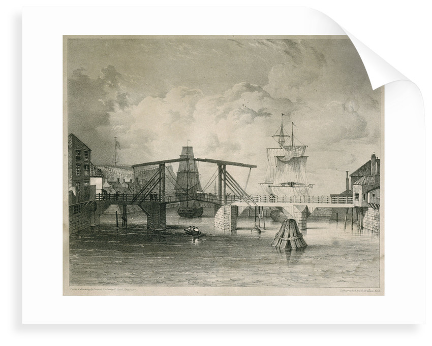 The Whitby old draw-bridge by Francis Pickernell