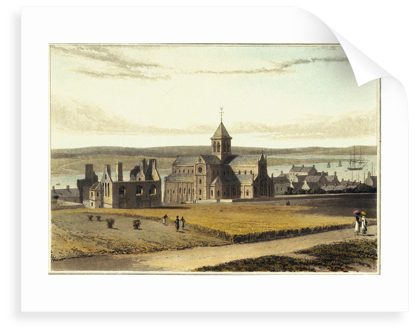 South-east view of the Cathedral & Palace, at Kirknall, Orkney by William Daniell