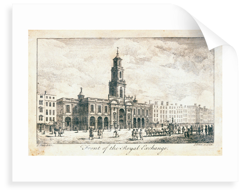 Frontal view of The Royal Exchange by Samuel Wale