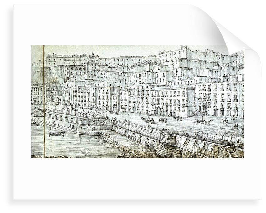 Panoramic view of Naples by Antonio Senape